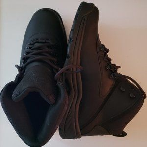 "Black Timberland Boots 6"" Waterproof Size 9 mens -"